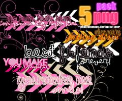 Pack de 5 pngs by welovefamous