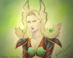 Blood Elf Mage by ArtistBrandi