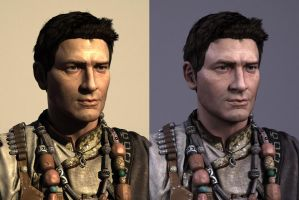 Uncharted_Nathan Drake_face Close by darkmummy