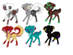 Unique Puppy Adoptables(open) by Rainbow-marble