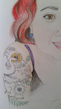 Girl with the Elephant Tattoo by That70sshowlova