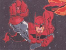 Red Lantern Batman by spyder8108