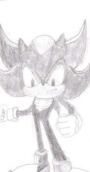 shadow the hedgehog penciled by ultrasupersonic