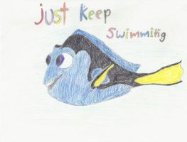 Dory-Just keep swimming by catz537