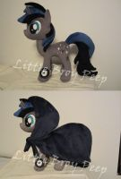 mlp OC Deep Dark plush (commission) by Little-Broy-Peep