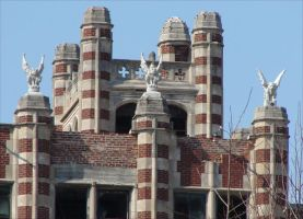 Waverly Hills gargoyles by MelissaW