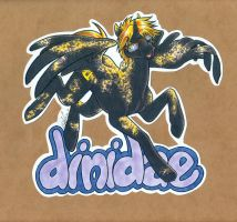 OC badge - dinidae by Bee-chan