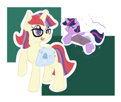 Moondancer and Twilight by Hourglass-Sands