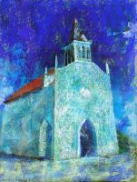 Blue Church by tutanvaly