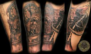 Judge clock reaper 2 session by 2Face-Tattoo