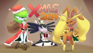 Merry Xmas From Pokemon Trainer 2014 by MasterPloxy