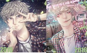 HAHAHA- BEFORE/AFTER_2015-2016. by MaewenMitzuki