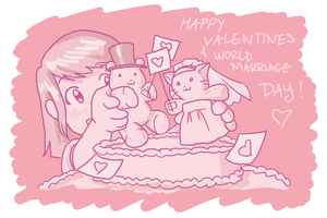 Valentines and World Marriage by kolidescope
