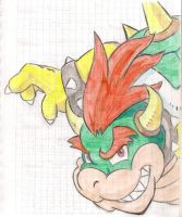 Notebooks First Page Front Drawings 5: Bowser by MrBowz