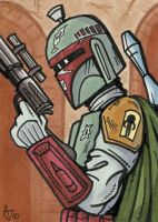 Boba Fett Sketch Card by AtlantaJones