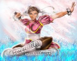 street fighter IV chun-li by ElecoMoroco