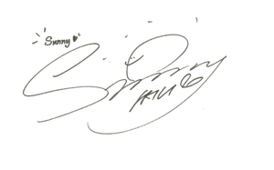 SNSD Sunny Signature ~PNG~ by JaslynKpopPngs