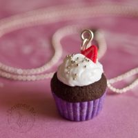 Glittery Purple Cupcake by JanetSaw