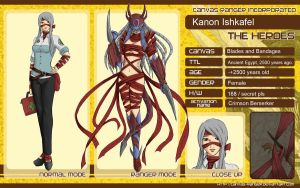 CR OC Sheet : Kanon Ishkafel by AOBAN