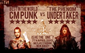 CM Punk vs Undertaker WrestleMania 29 Retro Poster by HTN4ever