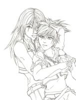 rikuXsora cuddles :3 by scrum-yummy