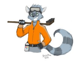 Raccoon  by SteamMouse