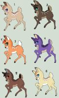DeerAdoptables by Kainaa