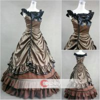 Sleeveless Ruffled Bowtie Lolita Gothic Dress by wendywei2012