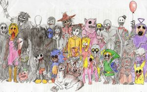 Creepypasta Team by Popuche