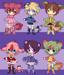 Cheap adopts! #7 (2/6 OPEN) by Kiwii-tan