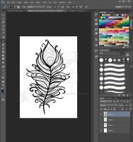 Feather Design (work in progress) by LavenderGreenTea