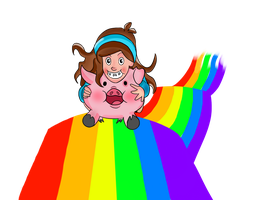 Mabel and Waddles Over The Rainbow by shimyrk