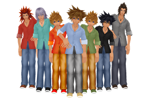 KH Male Casual DL by crystalwingskeyblade