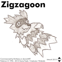 Commission - Zigzagoon Sketch by NS-Games