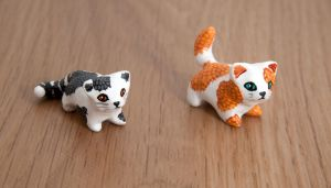 Little cat totems by lifedancecreations
