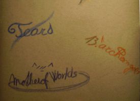 signatures of three girls... by Hoples