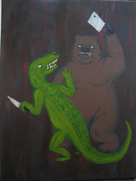 Gator Vs Bear Knife Fight by StapledSlut