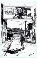 The Black Hood #8 page 11 Inks by RobertHack