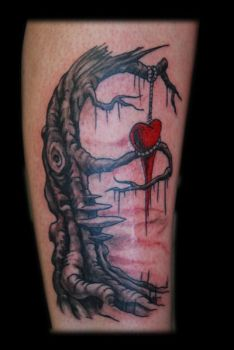 Tree with Hanged Heart by Omedon