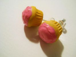 Cupcake Studs Earrings by MarzapanArt