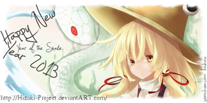 Happy New Year Of The Snake 2013 by Hizaki-Project