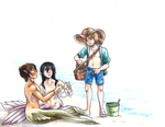 Armin's Fateful Beach Encounter by BrokenHighway