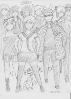 The Hanako Group - Redraw Sketch by KingFromHatena