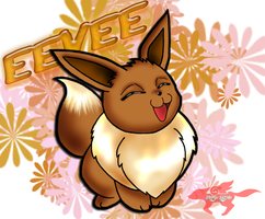 Sweet Little Eevee by StarFox-Saiyan