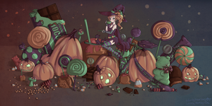 Halloween Coloring Contest by ForeverSoaring