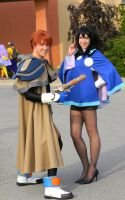Gene Starwind and Melfina - Colossalcon 2013 by EndOfGreatness