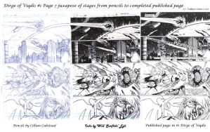 Dirge of Viqdis #1 Page 7 juxapose progression by SurfTiki