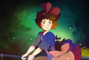 Kiki's Delivery Service by Andreanable