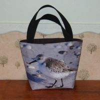 Sand Piper Canvas Tote Bag by WilsonGraphics