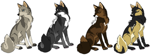 Canine Adopts .:.Closed.:. by MonsoonWolf